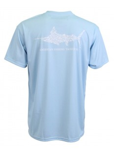 AFTCO Jigfish Performance Sun Shirt SS Sky